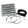 5'Ø FRESH AIR INTAKE KIT (FAKW) FOR WOOD STOVE ON PEDESTAL